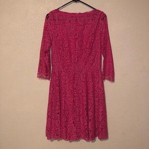 Pink Lulus dress.
